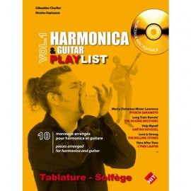CHARLIER HARMONICA ET GUITARE PLAYLIST (PACK PARTITION+CD)