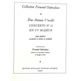 VIVALDI CONCERTO N°23 EN UT MAJEUR ET559
