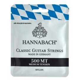CORDES HANNABACH GUITARE CLASSIQUE MEDIUM TENSION 500MT