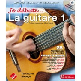 ROUVE / HEUVELINNE JE DEBUTE LA GUITARE 1 (PACK PARTITION+CD)