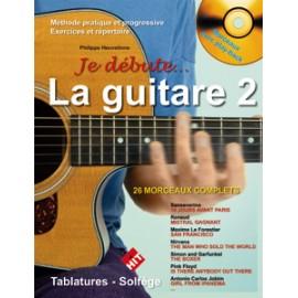 ROUVE / HEUVELINNE JE DEBUTE LA GUITARE 2 (PACK PARTITION+CD)