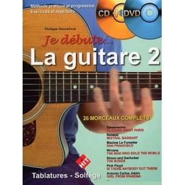 ROUVE / HEUVELINNE JE DEBUTE LA GUITARE 2 (PACK PARTITION+DVD)
