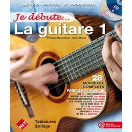 ROUVE / HEUVELINNE JE DEBUTE LA GUITARE 1 (PACK PARTITION+DVD)