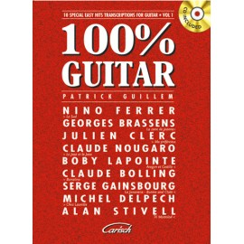 GUILLEM 100% GUITAR 1 MF1988 (PACK PARTITION+CD)