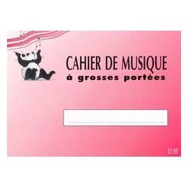 CAHIER DE MUSIQUE GROSSES PORTEES 3 PORTEES E3