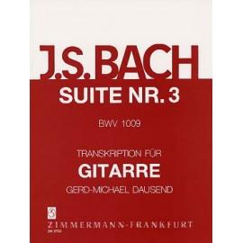 BACH SUITE VIOLONCELLE 3 DAUSEND BWV 1009 ZM27330