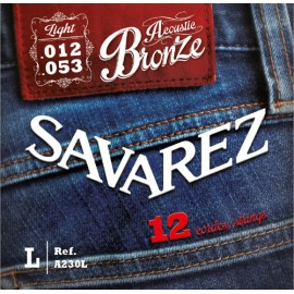 SAVAREZ FOLK BRONZE LIGHT 12/53 12 CORDES JEU A230L