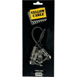 CABLE YELLOW CABLE JACK AUDIO MALE/JACK MALE COUDE MONO