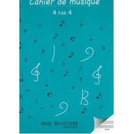 CAHIER DE MUSIQUE 4 PAR 4 SPIRALE  S44S