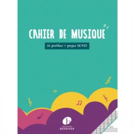 CAHIER DE MUSIQUE ET CHANT 12 PORTEES M12