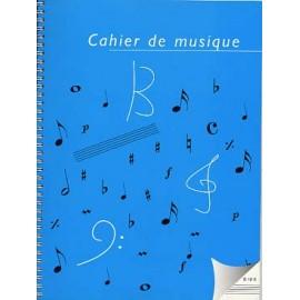 CAHIER DE MUSIQUE A SPIRALE 12 PORTEES S12S