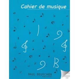 CAHIER DE MUSIQUE 12 PORTEES 21X27CM S12P