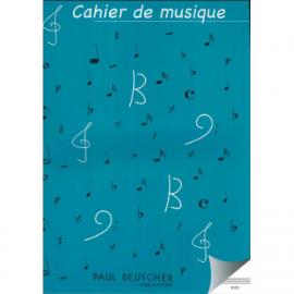 CAHIER DE MUSIQUE 12 PORTEES S12G