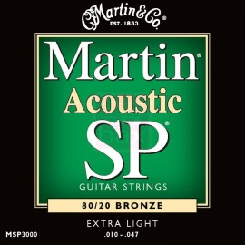 MARTIN SP BRONZE X-LIGHT 10/47 JEU MSP3000