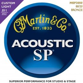 MARTIN SP BRONZE CUSTOM LIGHT 11/52 JEU MSP3050