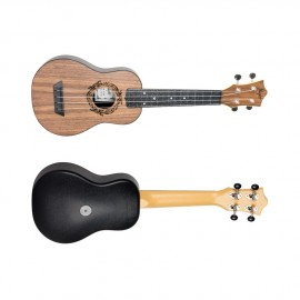 UKULELE SOPRANO FLIGHT TUS50 ABS TRAVEL WALNUT