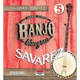 SAVAREZ BANJO 5 CORDES BLUEGRASS BOUCLE BN80ML