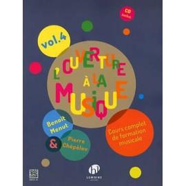 CHEPELOV MENUT L'OUVERTURE A LA MUSIQUE VOL 4 + CD HL29254
