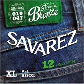 SAVAREZ FOLK BRONZE EXTRA-LIGHT 10/47 12 CORDES JEU A230XL