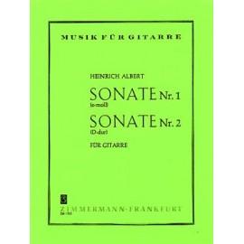 ALBERT SONATE 1 MI MINEUR SONATE 2 RÉ MAJEUR ZM17050