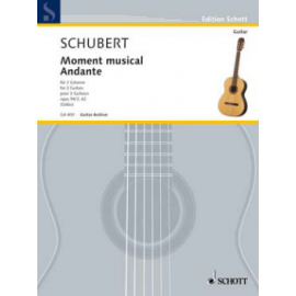 SCHUBERT MOMENT MUSICAL / ANDANTE OPUS 94/3 GA400