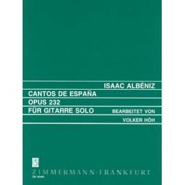 ALBENIZ CANTOS DE ESPANA OP 232 ZM30490