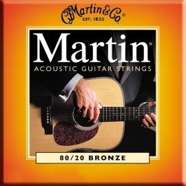 MARTIN BRONZE LIGHT/MEDIUM 12,5/55 JEU M145