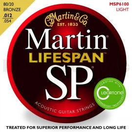 MARTIN SP LIFESPAN BRONZE LIGHT 12/54 JEU MSP6100