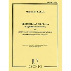 DE FALLA 7 CHANSONS 2 : SEGUIDILLA MURCIANA ME6930