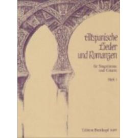 ALTSPANISCHE LIEDER UND ROMANZEN 1  EB8487