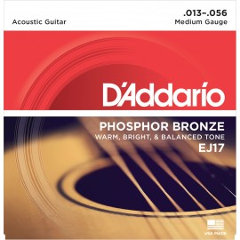 D'ADDARIO PHOSPHORE BRONZE MEDIUM 13-56 EJ17