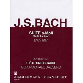 BACH SUITE EN LA MINEUR BWV997 ZM34160