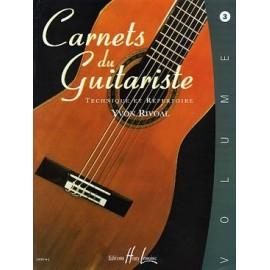 RIVOAL CARNETS DU GUITARISTE 3