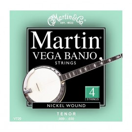 MARTIN BANJO 4 CORDES VEGA NICKEL WOUND MEDIUM 09/30 JEU V720