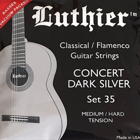 LUTHIER SET 35 CONCERT DARK SILVER JEU MEDIUM / HARD TENSION