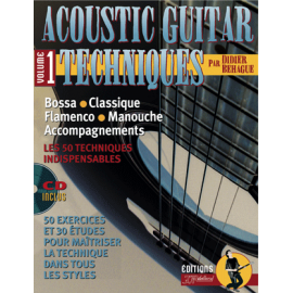 BEHAGUE ACOUSTIC GUITAR TECHNIQUES VOL 1 PACK PARTITION CD