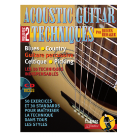 BEHAGUE ACOUSTIC GUITAR TECHNIQUES VOL 2 PACK PARTITION CD