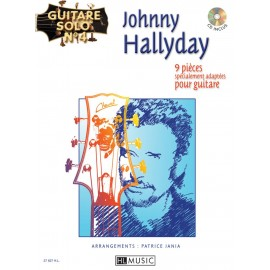 HALLYDAY GUITARE SOLO N°4  HL27627 (PACK PARTITION CD)
