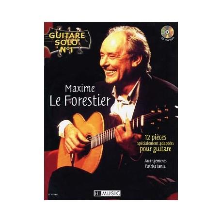 GUITARE SOLO N°1 MAXIME LE FORESTIER + CD HL27603
