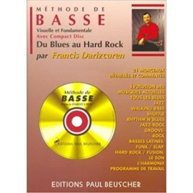 DARIZCUREN METHODE DE GUITARE BASSE PB1291 (PACK PARTITION CD)