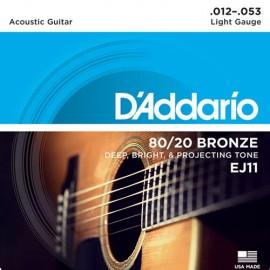 D'ADDARIO BRONZE LIGHT 12/53 JEU EJ11