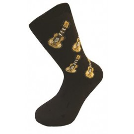 CHAUSSETTES NOIRES GUITARE MGC TAILLE 39/45