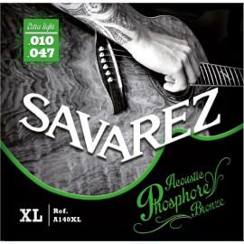 SAVAREZ FOLK PHOSPHORE BRONZE EXTRA LIGHT 10/47 JEU A140XL