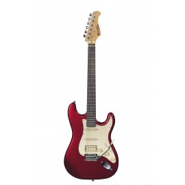GUITARE ELECTRIQUE HSS PRODIPE CANDY RED ST83RACAR