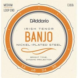 D'ADDARIO BANJO 4 CORDES IRISH TENOR  JEU EJ63I