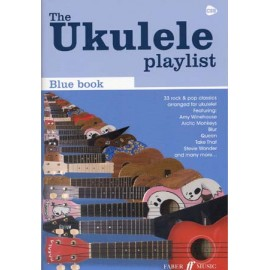 UKULELE PLAYLIST BLUE BOOK FA533272 BLEU