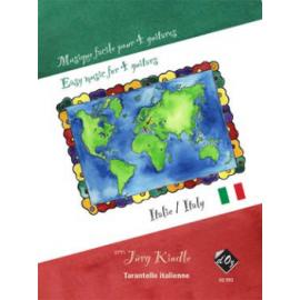 MUSIQUE FACILE POUR 4 GUITARES : ITALIE DZ995