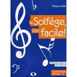 GANTER LE SOLFEGE C'EST FACILE + CD (PACK PARTITION  + CD)