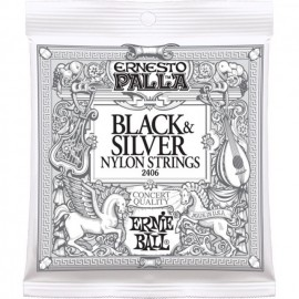 ERNIE BALL BLACK SILVER NYLON EP2406