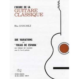 SANCHEZ 10 VARIATIONS FOLIAS DE ESPANA AC20318